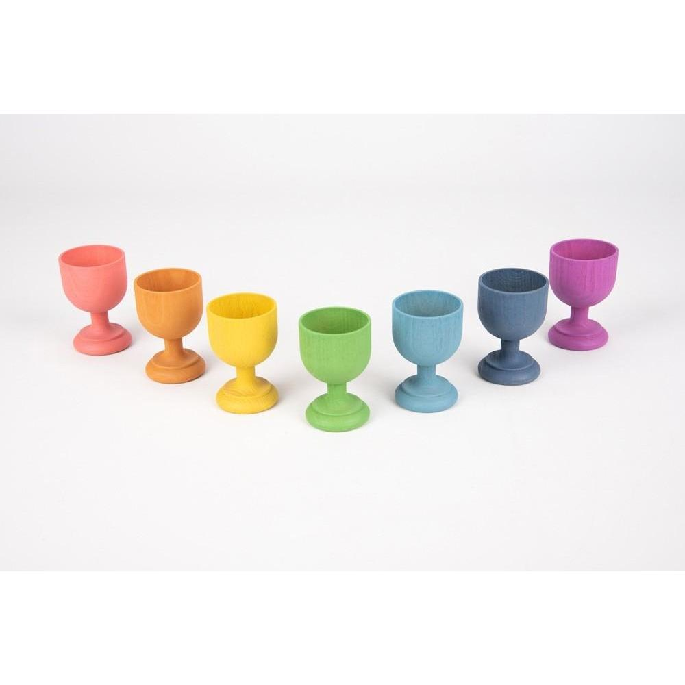 TickiT Wooden Rainbow Egg Cups - Little Whispers