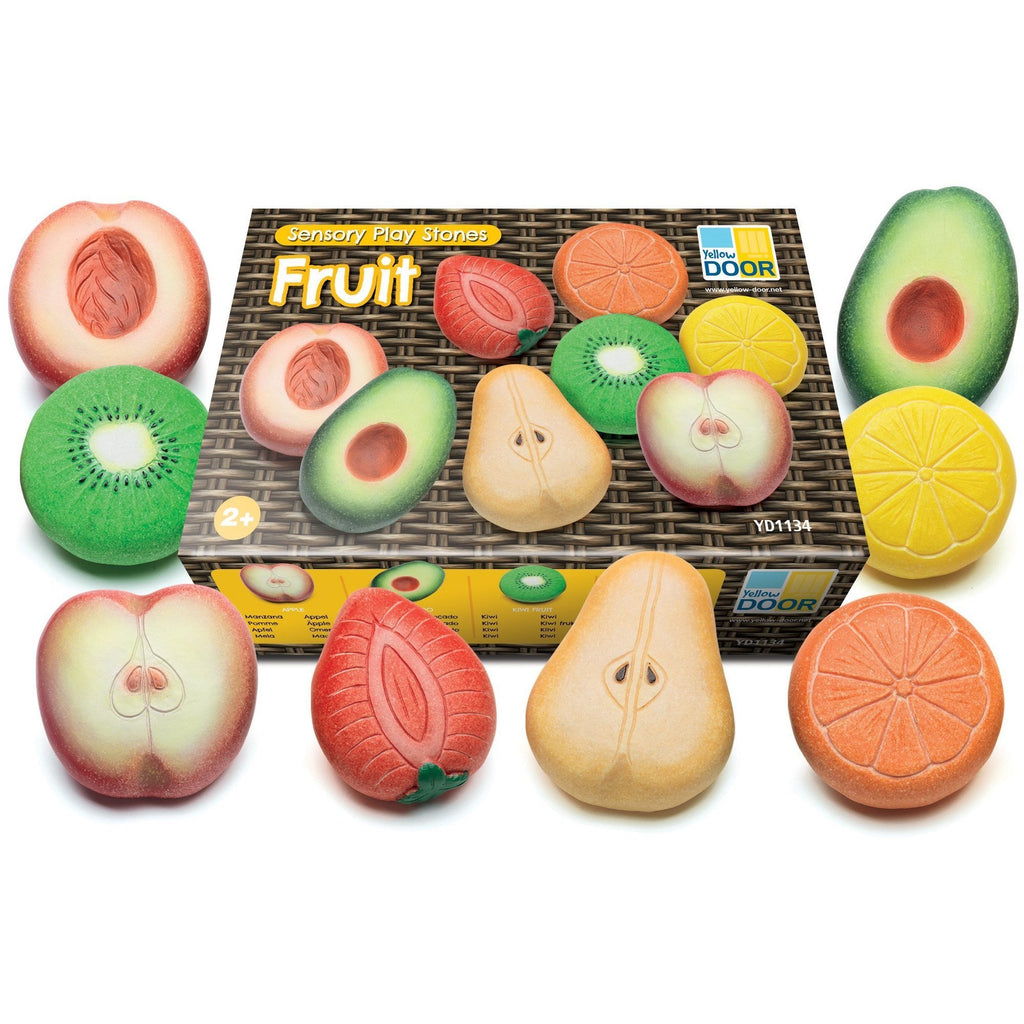 Yellow Door Fruit Sensory Play Stones - Little Whispers