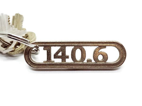 Triathlete gift keychain 140.6 miles from Runfoundry