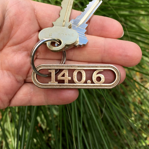 140.6 Triathlon keychain from RunFoundry.com