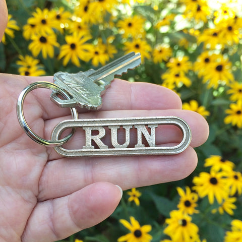 RUN runner's keychain accessory from RunFoundry