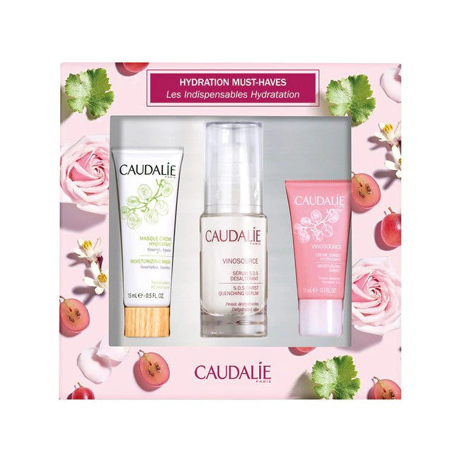 CAUDALIE COFANETTO VINOSOURCE 2019 MASCHERA 15 ML + CREMA 15 ML + SIERO 30 ML