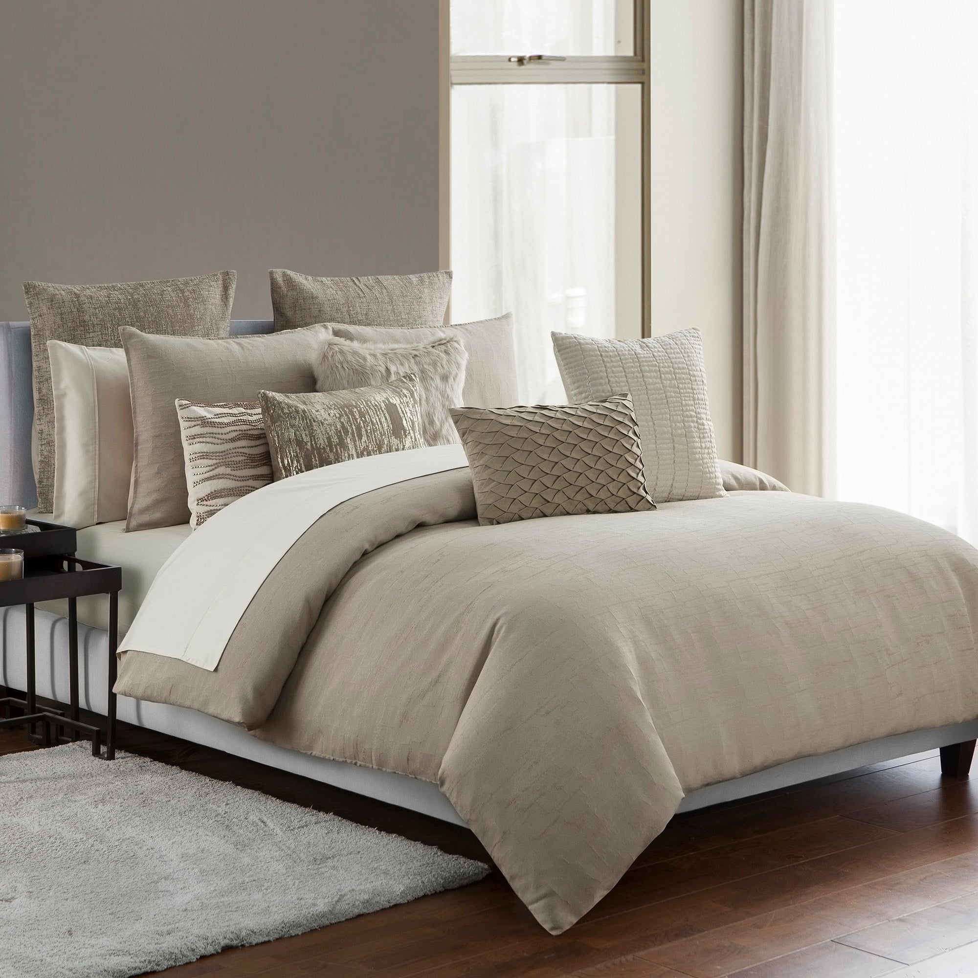 on faux shipping fur marselle park bed bedding product comforter free madison bath set