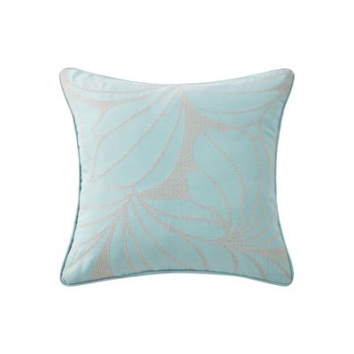 "Abstract Floral 16"" x 16"" Embroidered Pillow"