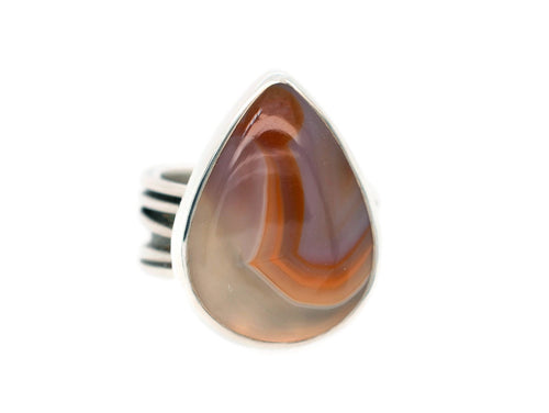 Red Lace Agate Ring