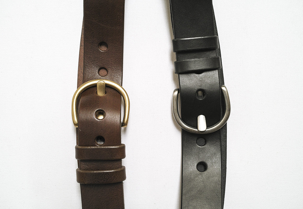 Horseshoe Contour Leather Belt