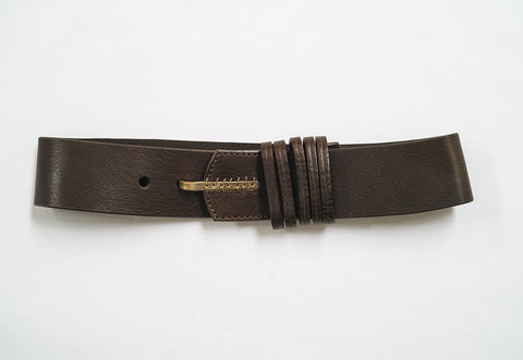 5 Loop Hook Leather Belt