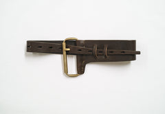 Single Roll Buckle Leather Belt