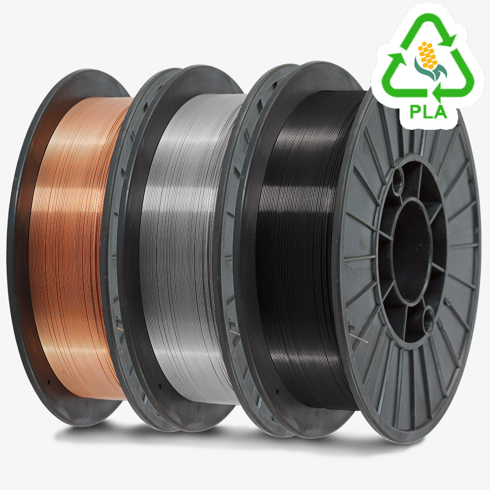 3D Printer Filament 1 KG Roll - PLA 1.75mm - Metallic Color Series - ~0.02mm variance