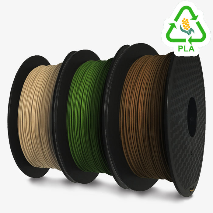 3D Printer Filament 1 KG Roll - PLA 1.75mm - Wood Color Series - ~0.02mm variance