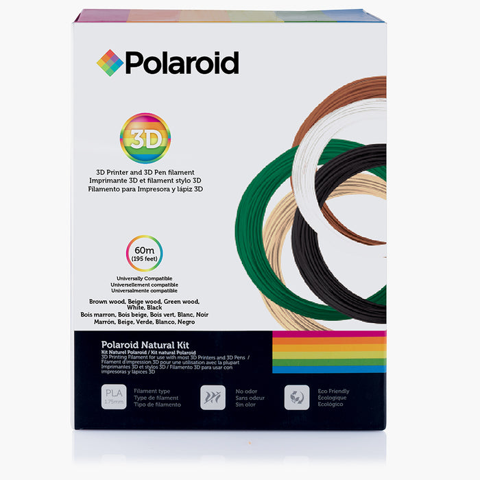 Polaroid Natural Kit - 1.75mm PLA printer filament for 3d pen