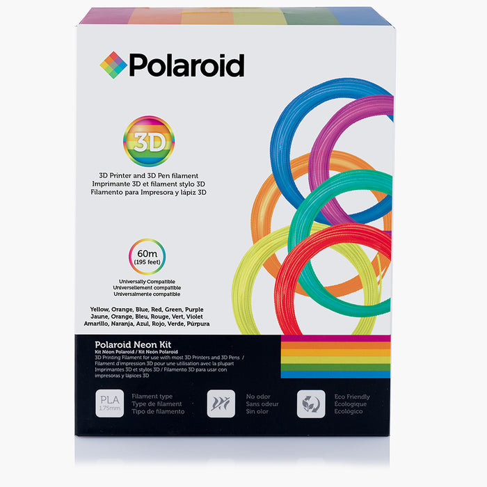 Polaroid Neon Kit - 1.75mm PLA printer filament for 3d pen