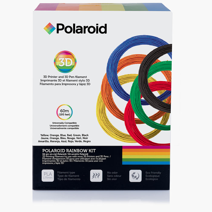 Polaroid Rainbow Kit - 1.75mm PLA printer filament for 3d pen