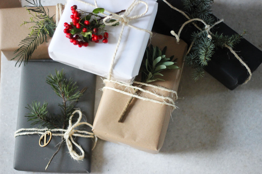 DIY Wrapping with Festive Foliage
