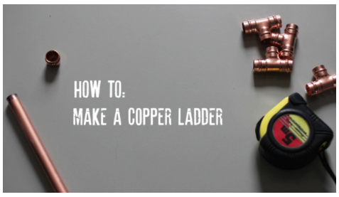 How to Make a Copper Pipe Ladder