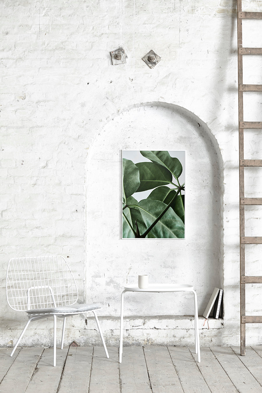 Green Home 01 / Leaves Art Print