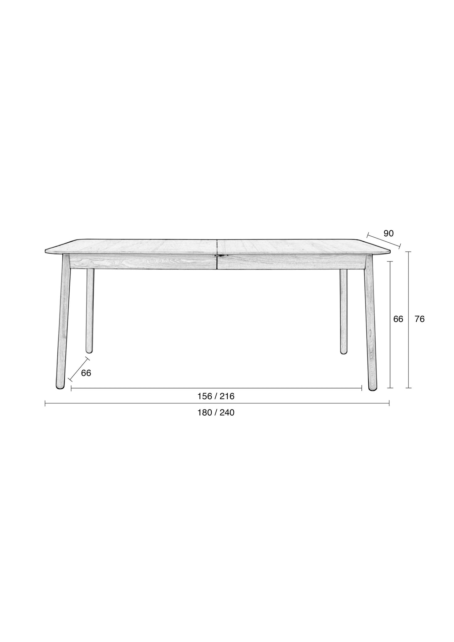Glimps Extendable Table