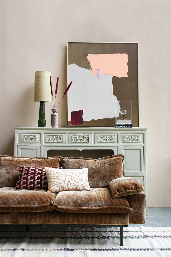 Large Muted Nude Multicolour Abstract Painting