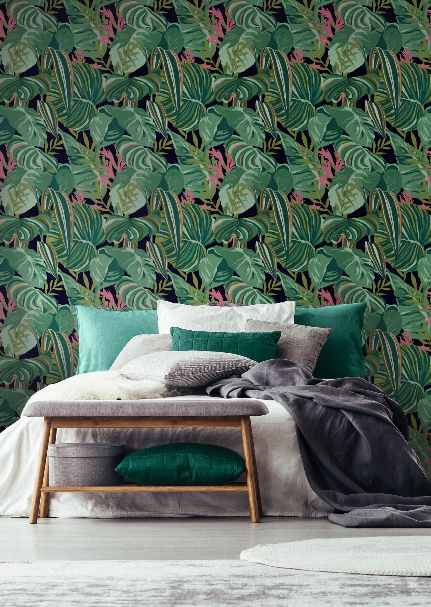 Tropical Foliage Wallpaper