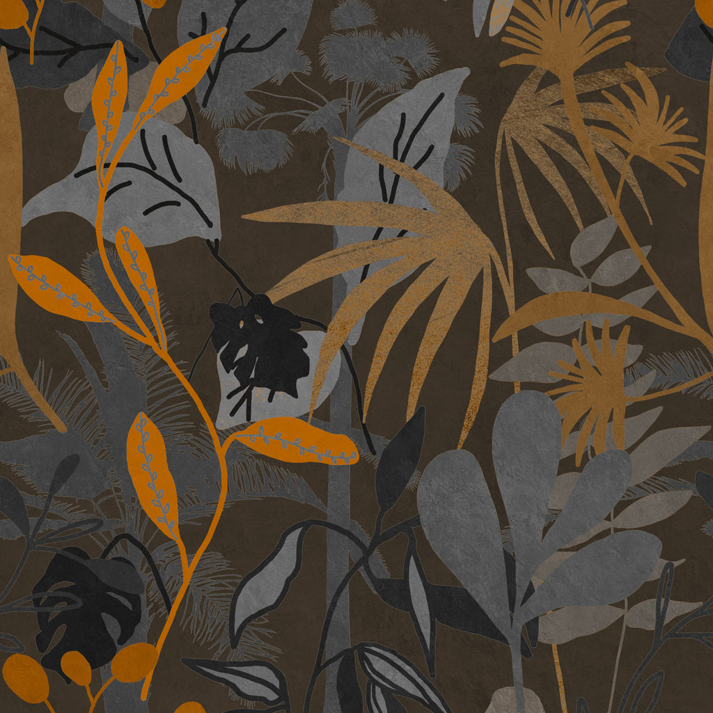 Caribbean Garden Dark Wallpaper