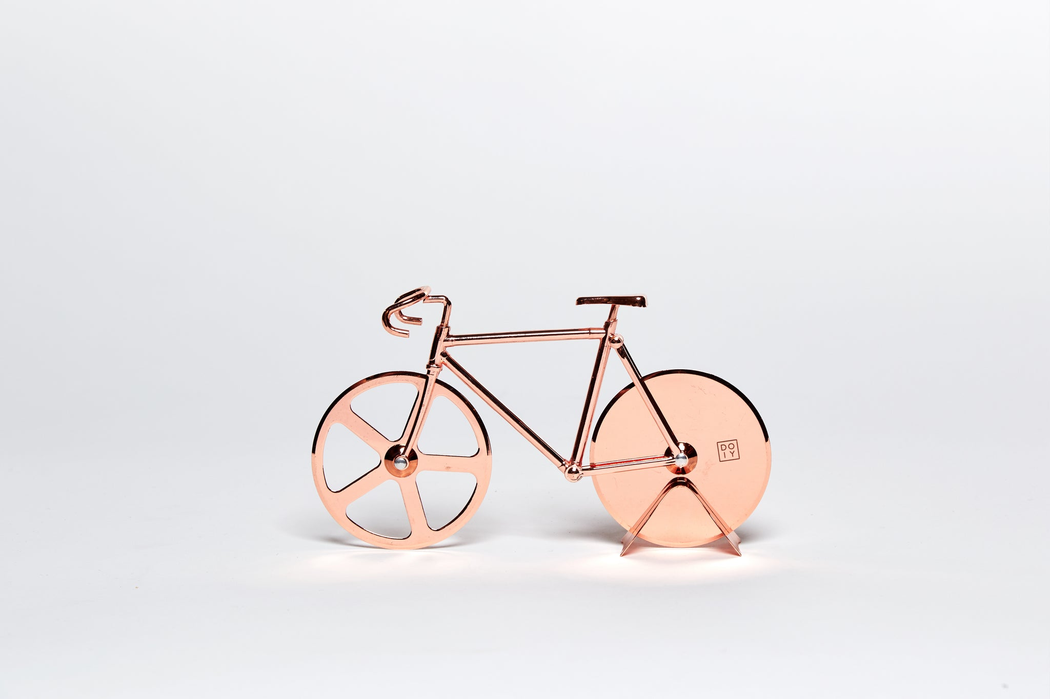 Fixie Bike Pizza Cutter in Copper