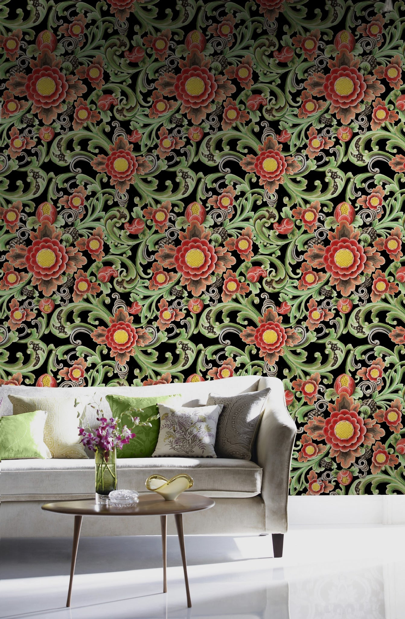 Floral Painting Wallpaper