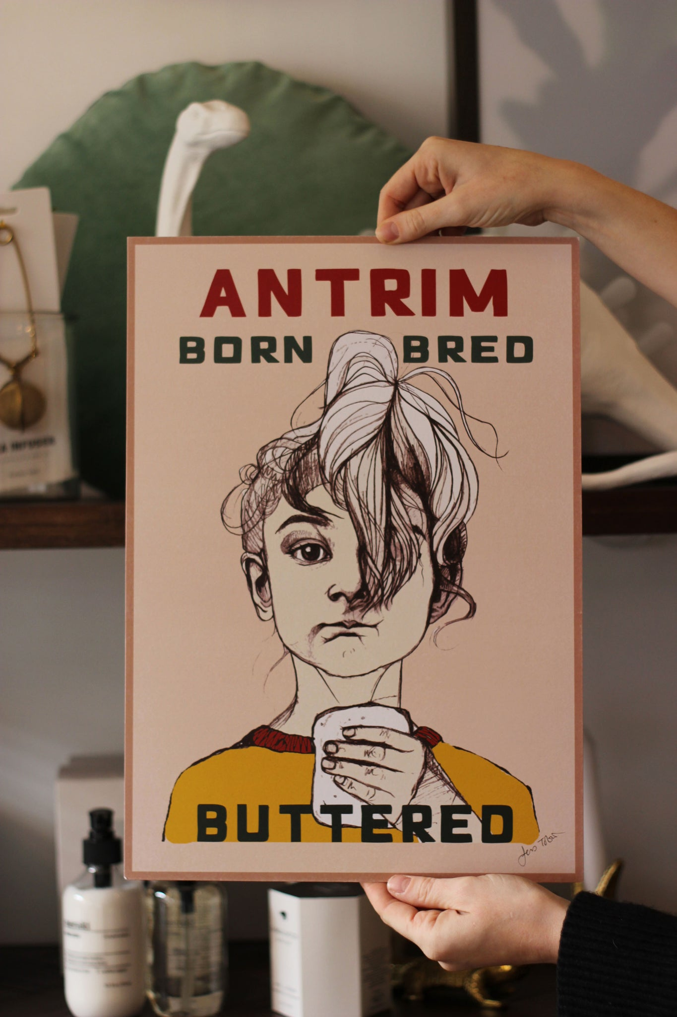 Antrim Born Bred Buttered Print