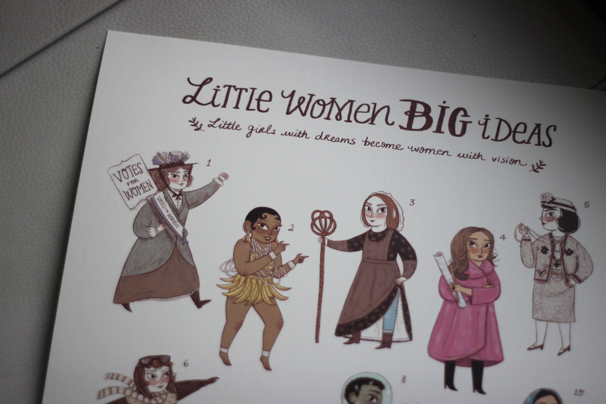Little Women Big Ideas Art Print