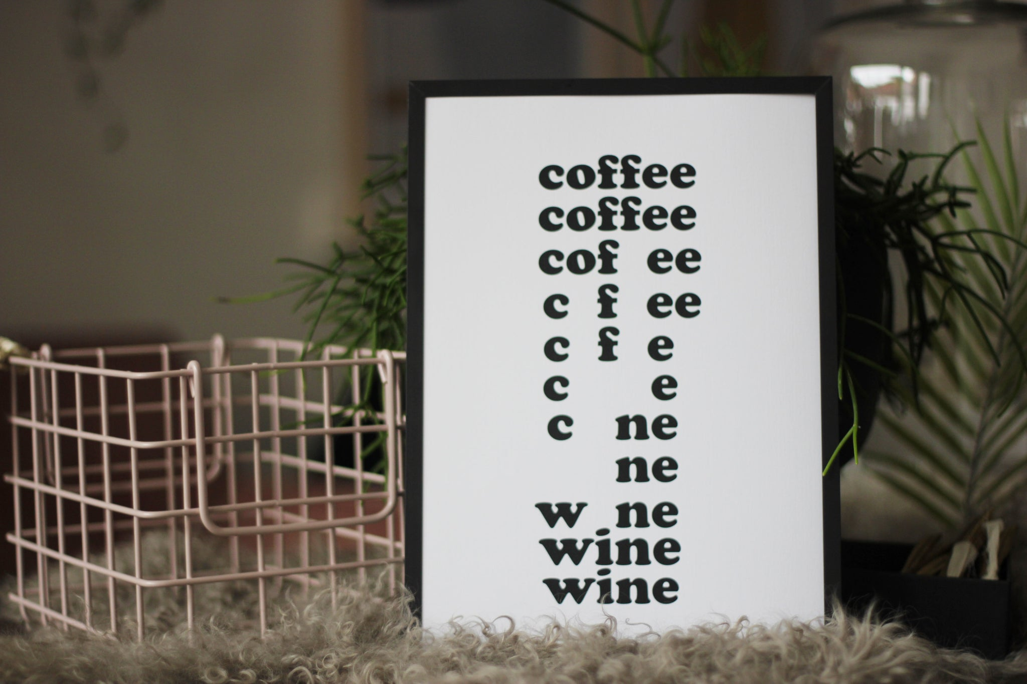 Coffee Wine Typography Print