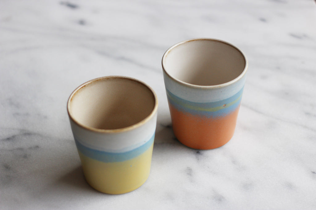 Set of 2 Ceramic Mugs - 70's Suites Collection