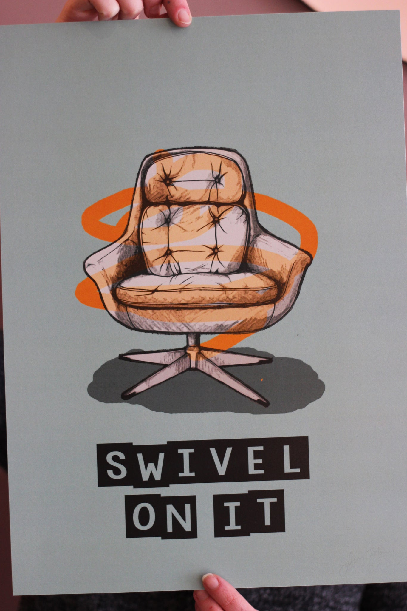 Swivel Chair Print