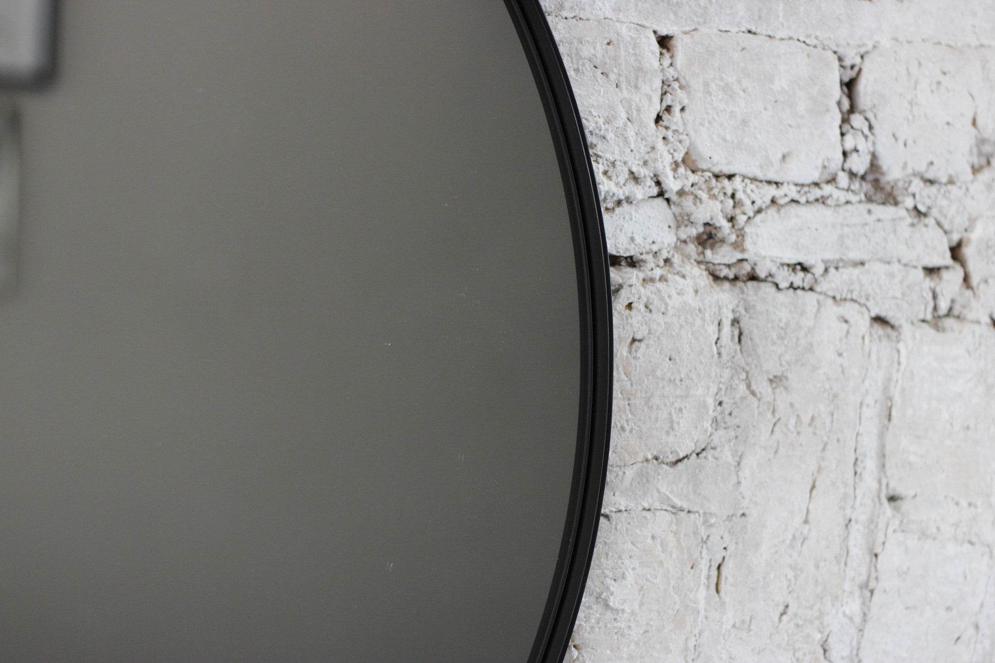 Large Circum Black Round Mirror — 110cm Diameter