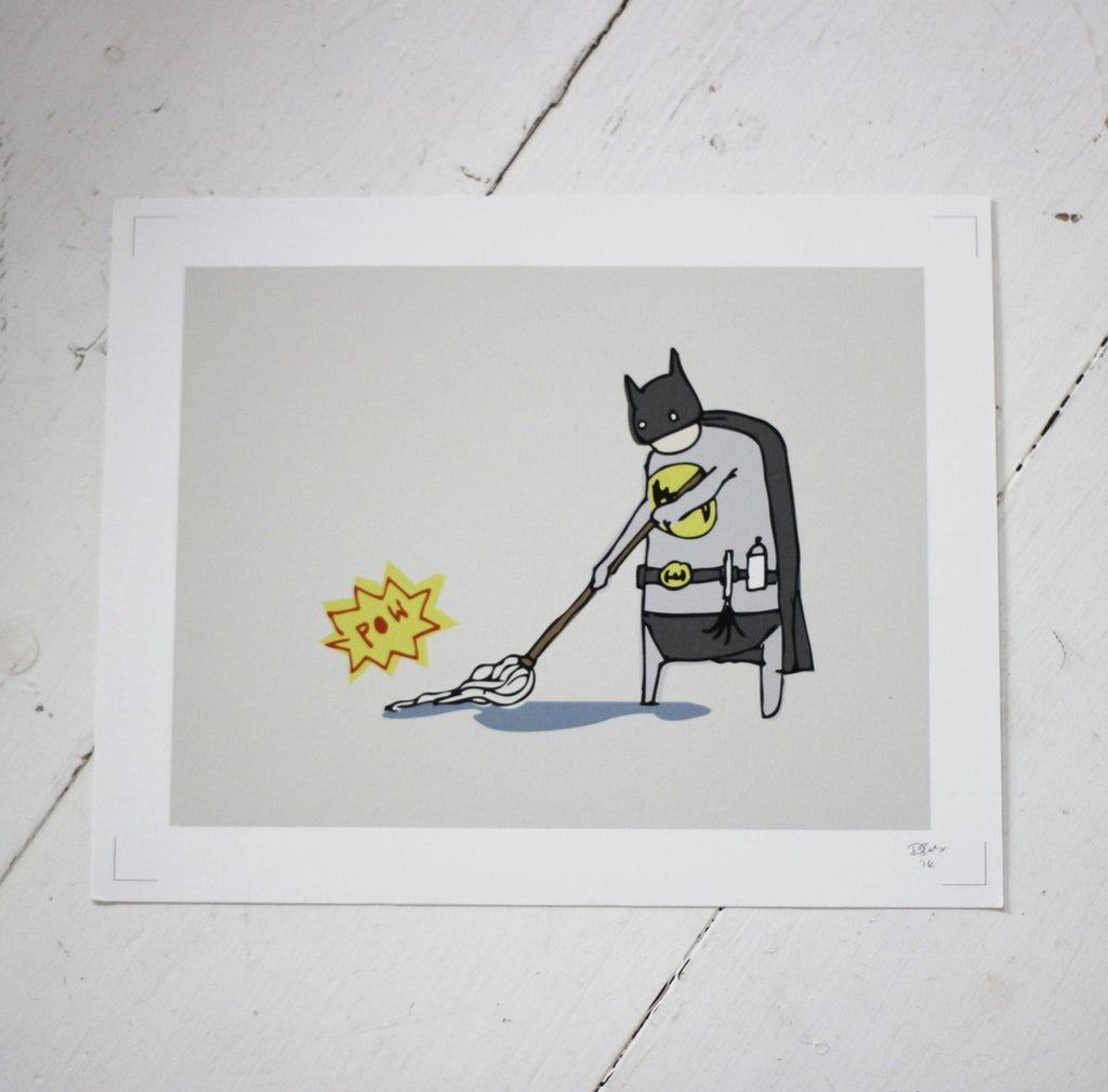 Batman fights Grime Print