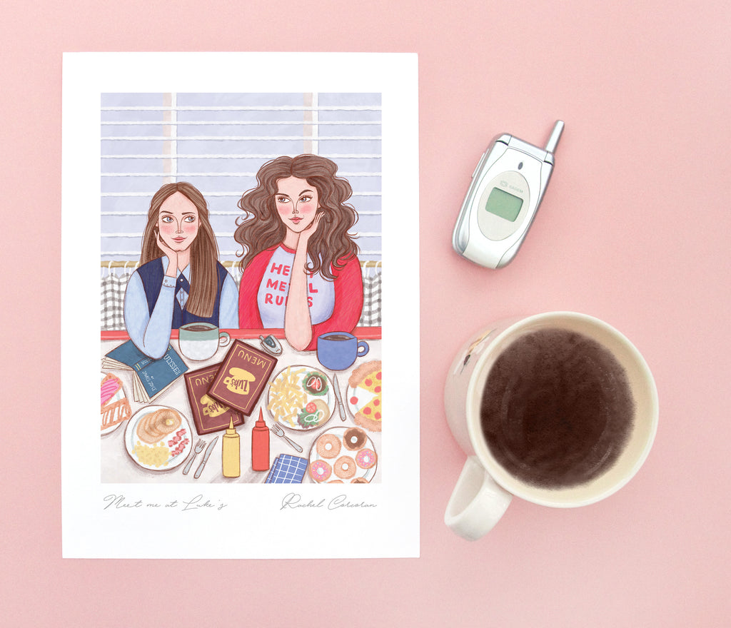Meet Me At Lukes / Gilmore Girls Art Print