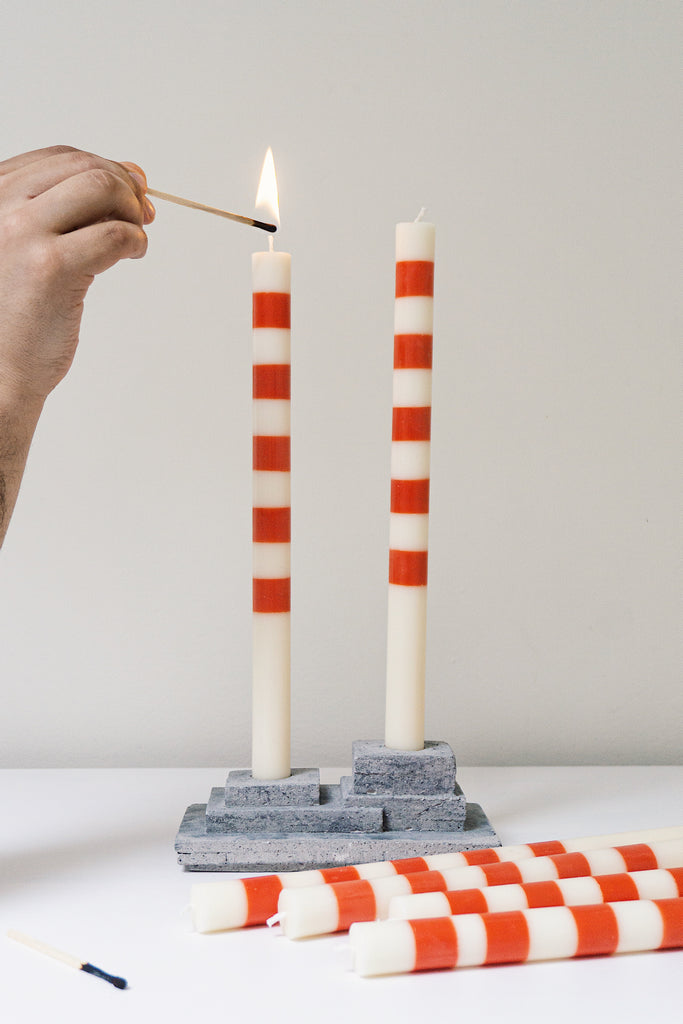 Poolbeg Chimney Candles and Candleholder Set