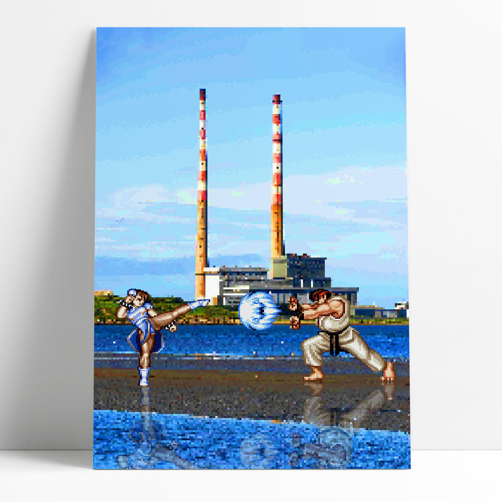 Street Fighter Poolbeg Art Print