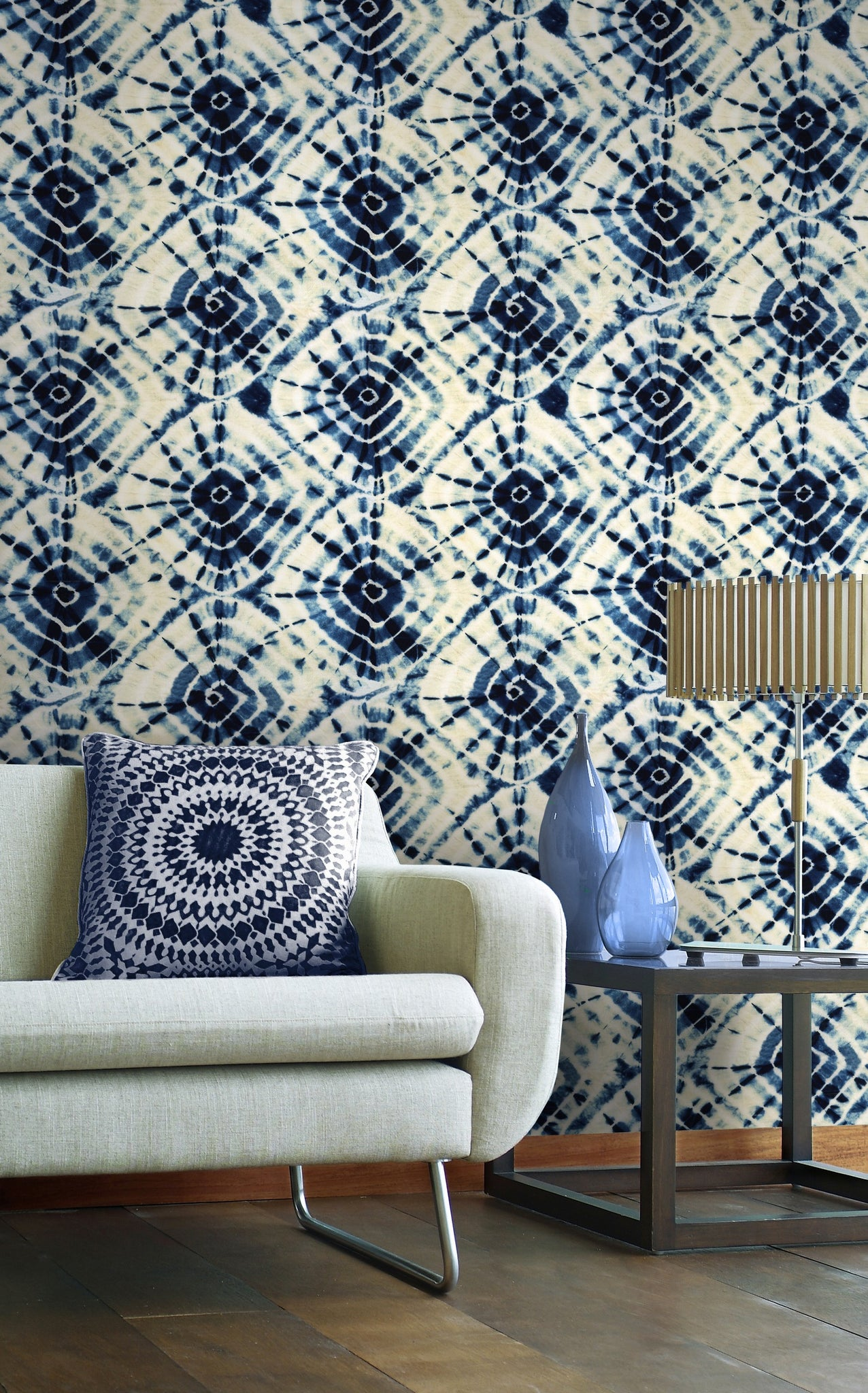 Shibori Swirls Wallpaper