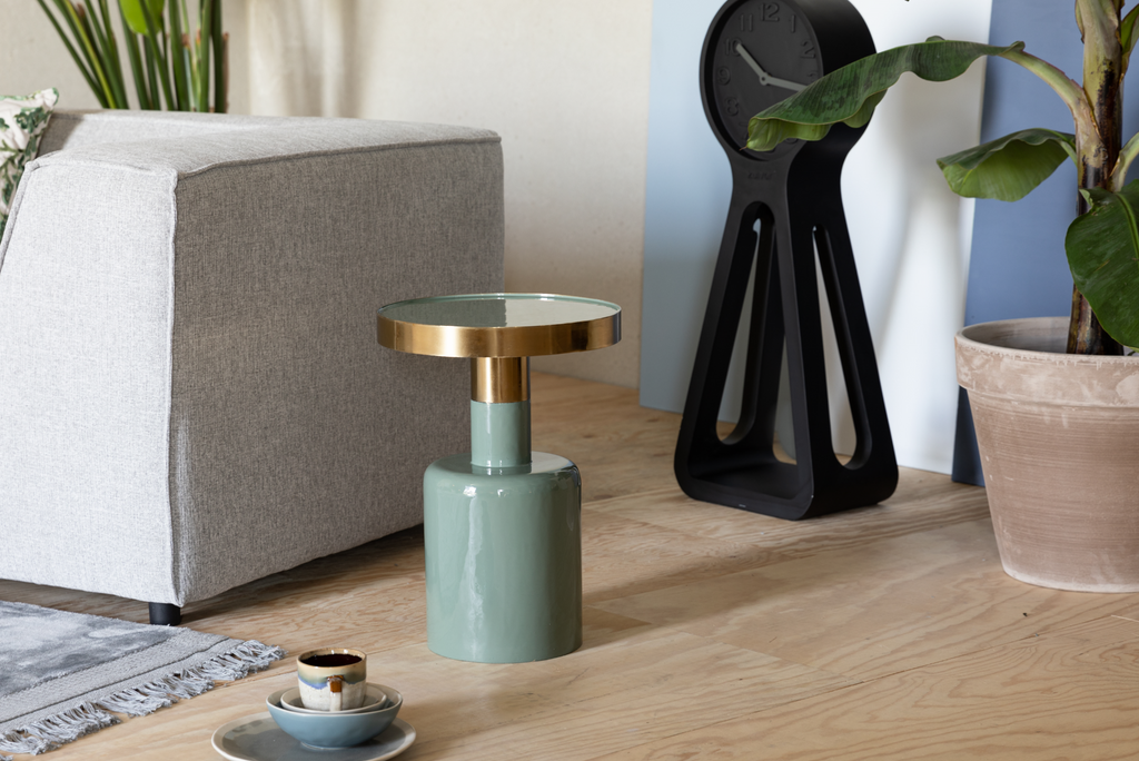 Glam Green Side Table