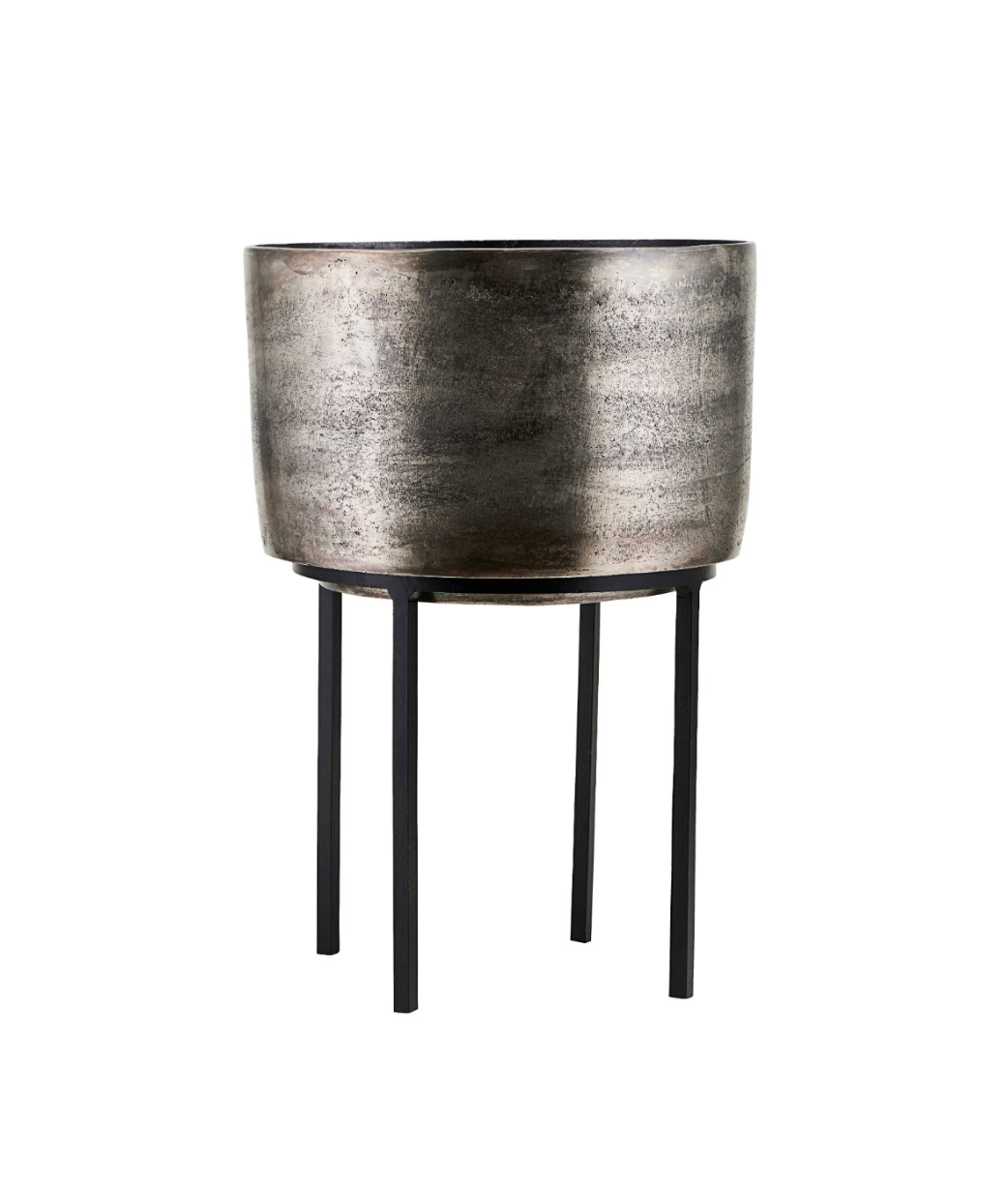 Kazi Silver Planter and Stand