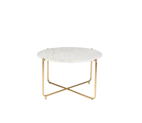 Marble + Brass Coffee Table