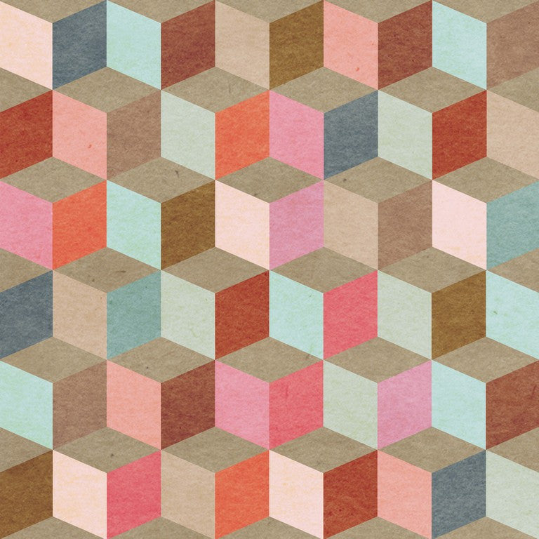 Coloured Geometry Circus Wallpaper