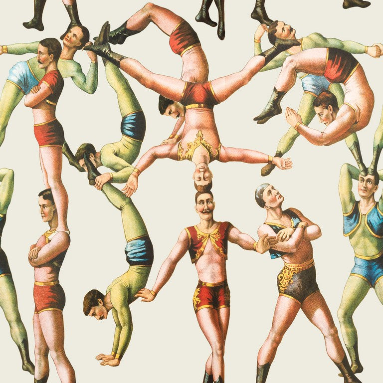 The Acrobats Circus Wallpaper