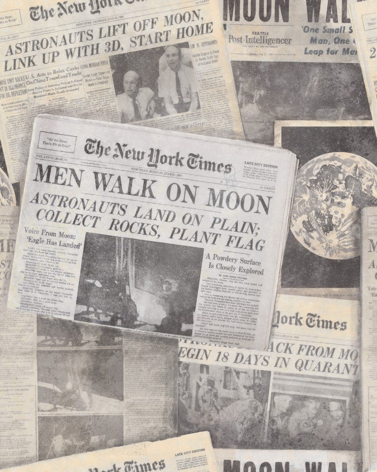 Moonwalker Newspaper Wallpaper