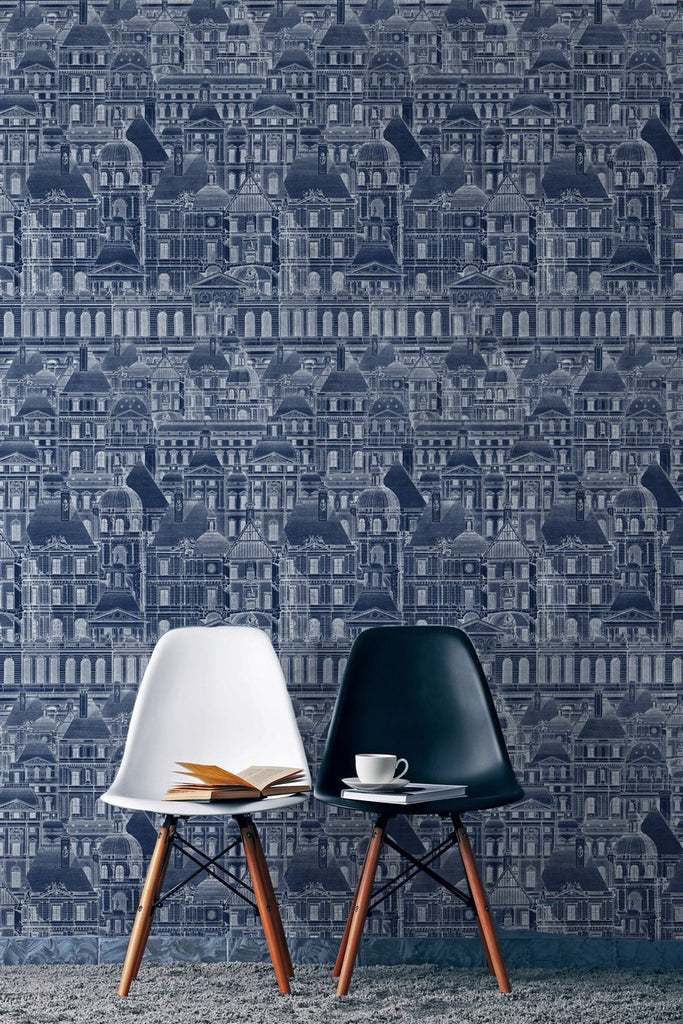 Louvre Blue Wallpaper