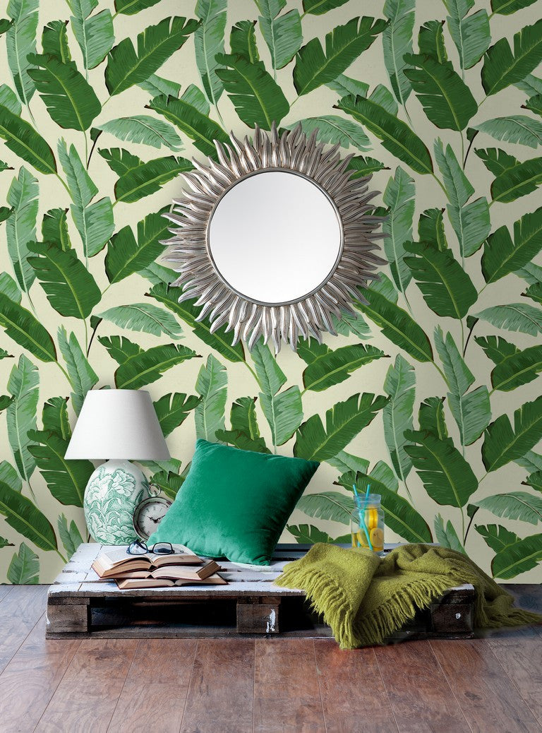 Banana Leaves Woven Wallpaper