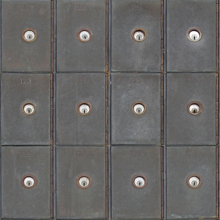 Industrial Metal Cabinets Wallpaper
