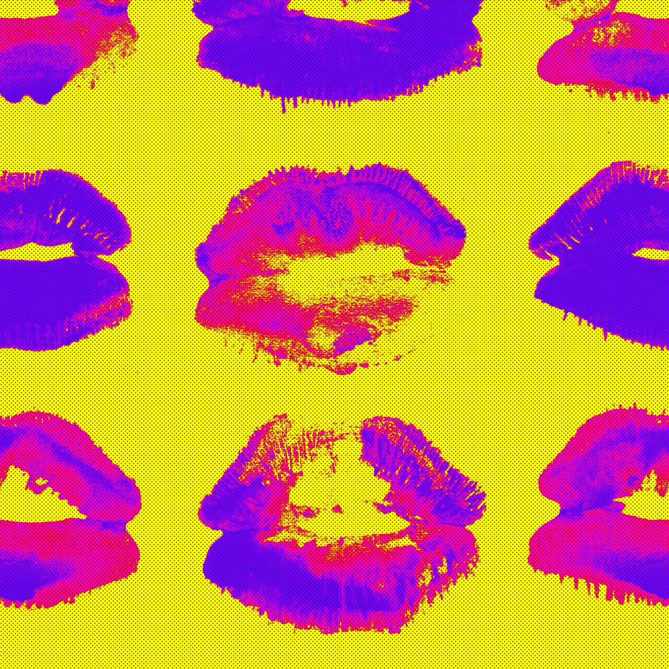 Neon Kiss Wallpaper