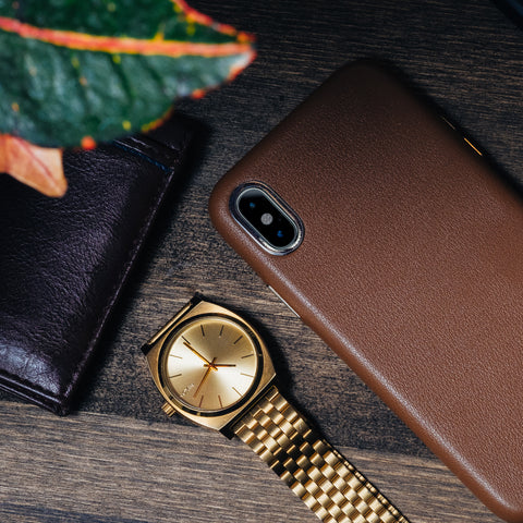 Leather iPhone Xs Case