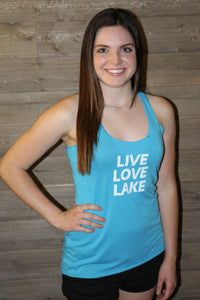 Live Love Lake women's racerback tank