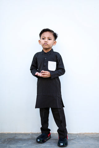 KIDS Baju Kurta in Black